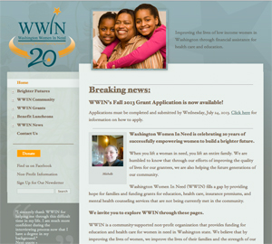 Washington Women in Need org website image