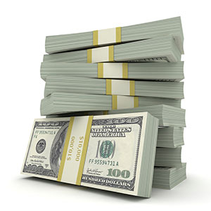 Provanti Designs - Cost and Budget pg - stock image cash pile