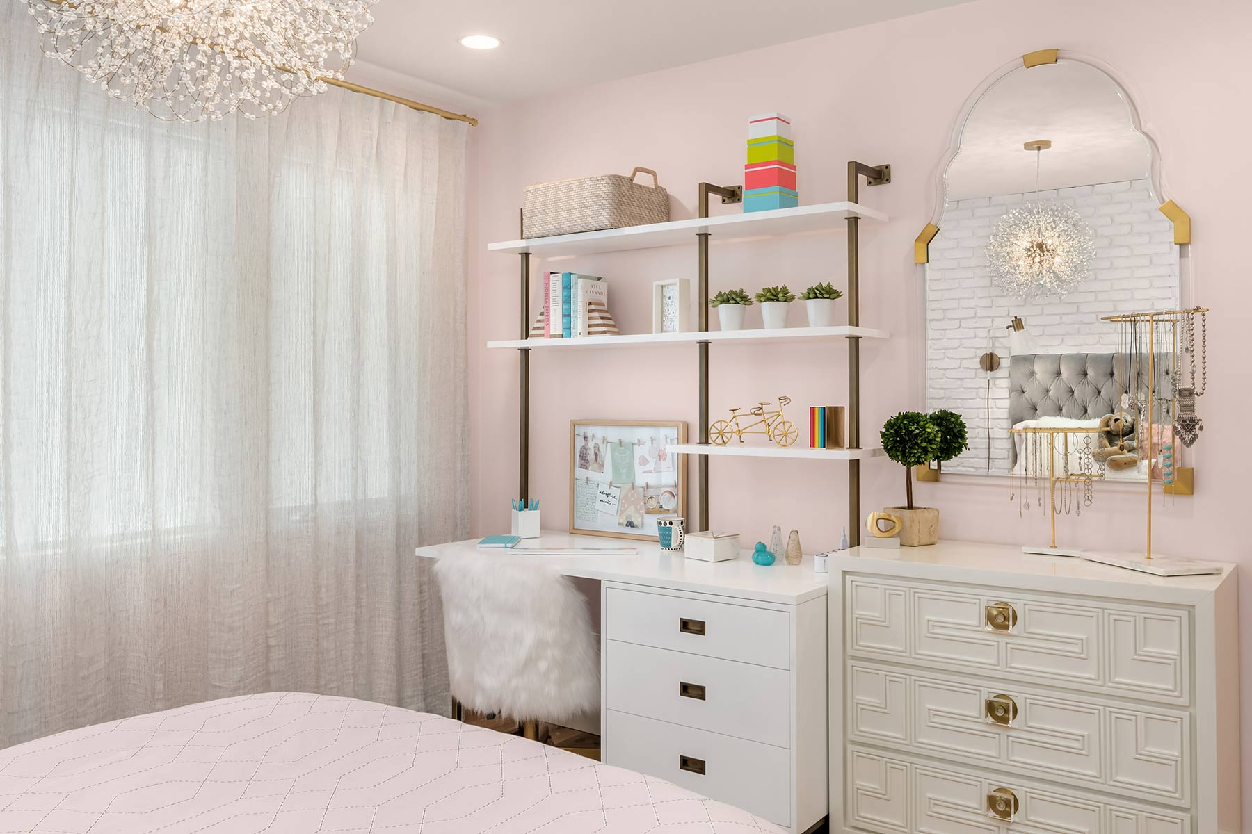 Provanti Designs 'Pretty in Pink' teen bedroom design - featured on Houzz